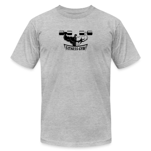Fitness Gym Muscled Bodybuilding Dumbbells - Unisex Jersey T-Shirt by Bella + Canvas