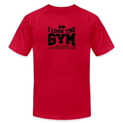 I love the gym - Men's Jersey T-Shirt
