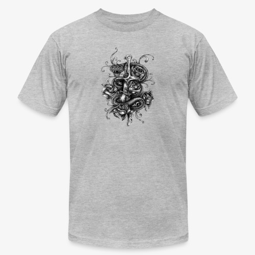Dagger And Snake - Unisex Jersey T-Shirt by Bella + Canvas