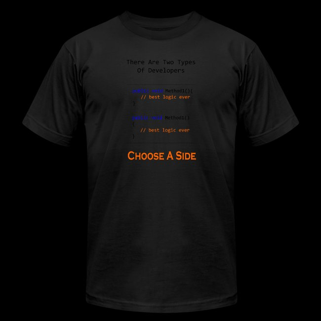 Code Styling Preference Shirt