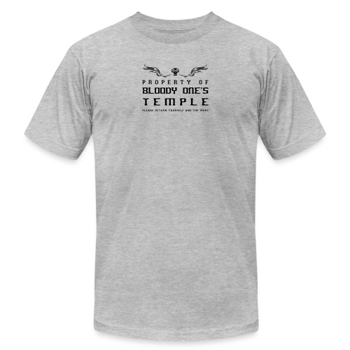 bloodyonestempleblack - Unisex Jersey T-Shirt by Bella + Canvas