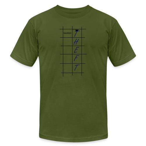 Taxation is Theft Crossword - Men's  Jersey T-Shirt