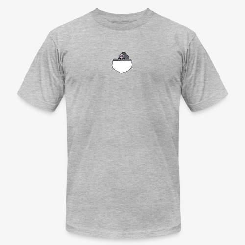 Gray Pocket Buddy - Unisex Jersey T-Shirt by Bella + Canvas