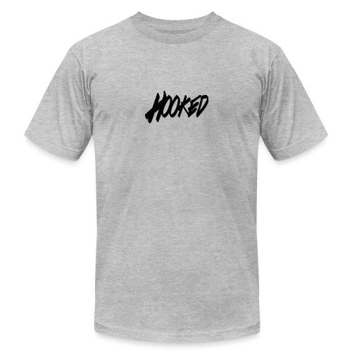 Hooked black logo - Unisex Jersey T-Shirt by Bella + Canvas
