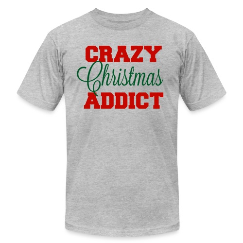 Crazy Christmas Addict - Unisex Jersey T-Shirt by Bella + Canvas