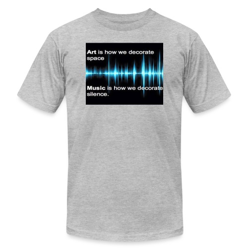Music and art - Unisex Jersey T-Shirt by Bella + Canvas