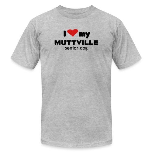 Muttville 3000 back - Unisex Jersey T-Shirt by Bella + Canvas