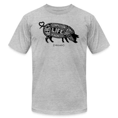 Cuts of Compassion - Black w/white - Unisex Jersey T-Shirt by Bella + Canvas