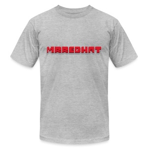 MrRedHat Plain Logo - Men's T-Shirt by American Apparel