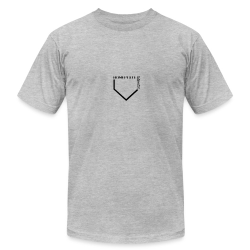 HOMEPLATE PRESS BLACK LOGO - Men's Fine Jersey T-Shirt