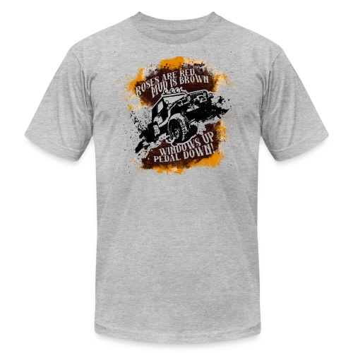 Roses Are Red, Mud Is Brown - Jeep Shirt - Men's Fine Jersey T-Shirt