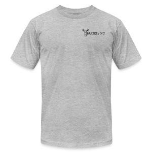 Barbell Inc Stickman (Grey) - Men's Fine Jersey T-Shirt