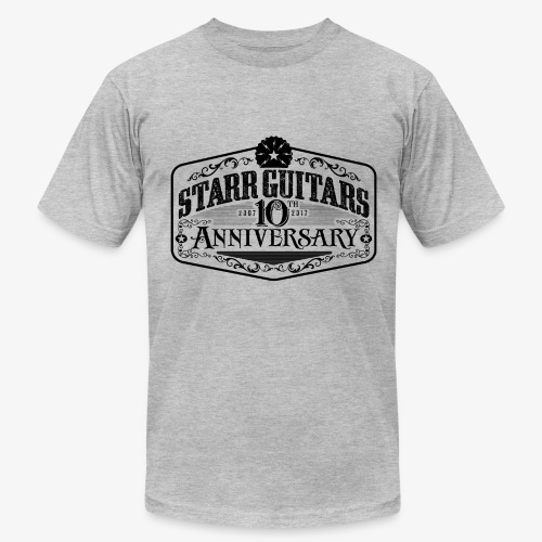 Starr Guitars 10th Anniversary Black Logo - Men's Fine Jersey T-Shirt