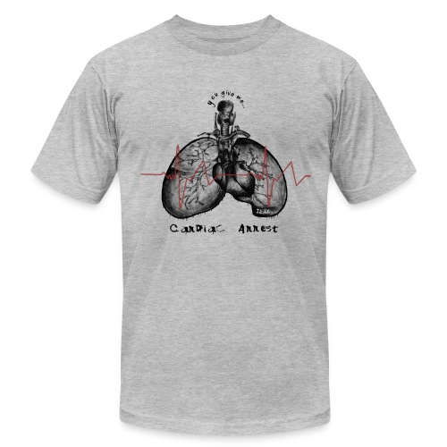 IZÄR CARDIAC ARREST - Men's Fine Jersey T-Shirt