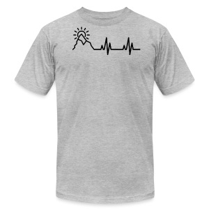 Heartbeat of a Traveler - Men's Fine Jersey T-Shirt