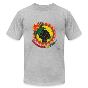 Cannabis On Fire 420 Power - Men's T-Shirt by American Apparel