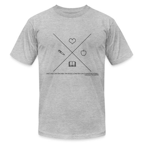 One Book, One Pen Cross Logo - Men's  Jersey T-Shirt