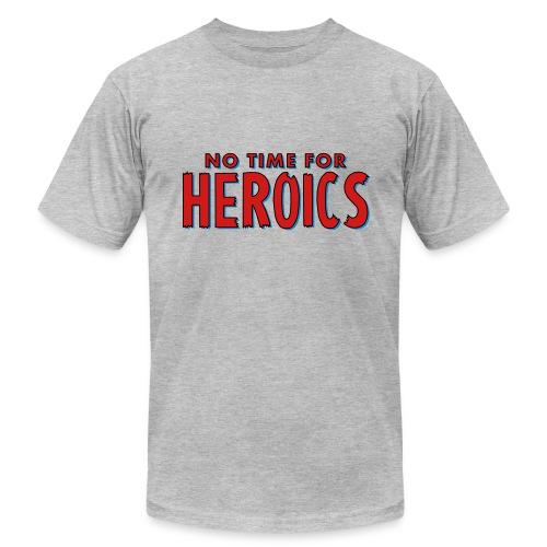 No Time for Heroics Logo - Men's Fine Jersey T-Shirt