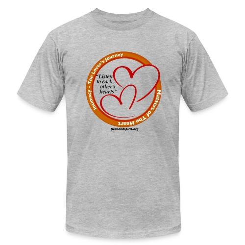 Matters of the Heart T-Shirt: Listen to each other - Men's Fine Jersey T-Shirt