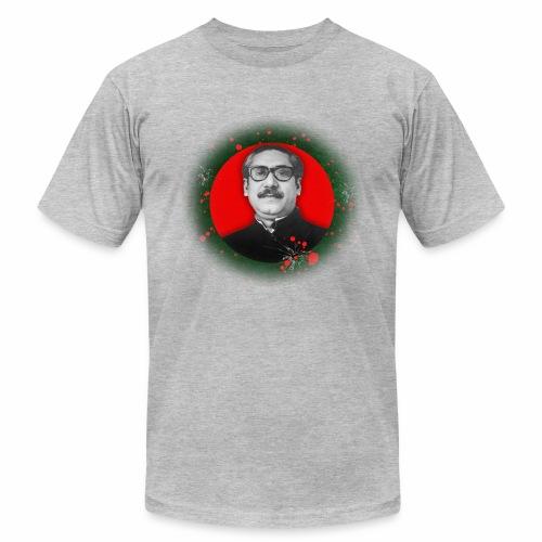 Bangabandhu inside red circle of flag - Men's Fine Jersey T-Shirt