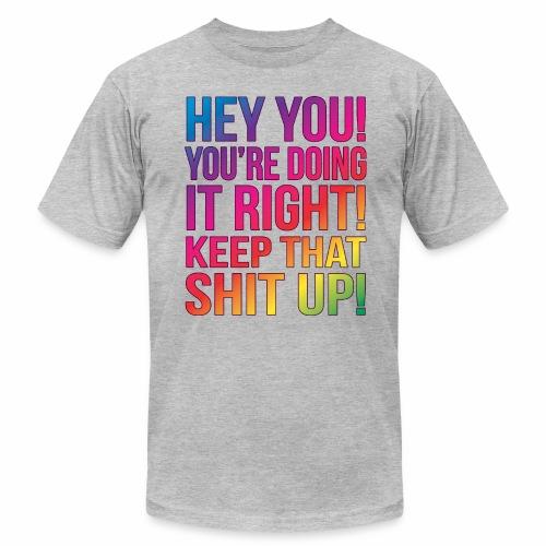 HEY YOU LIGHT - Men's Fine Jersey T-Shirt