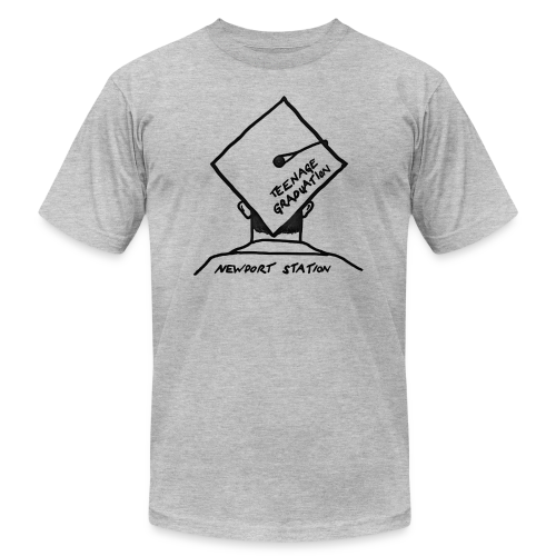 grad cap (etched in black) - Men's Fine Jersey T-Shirt