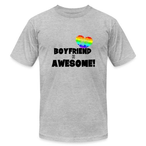 My BoyFriend is Awesome - Men's Fine Jersey T-Shirt