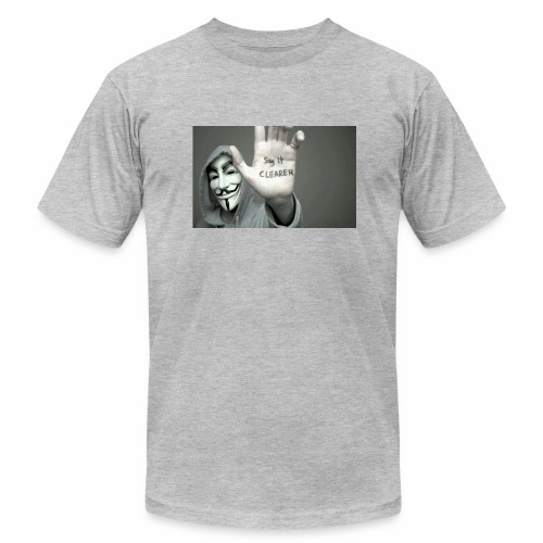 ANONYMOUS PRINTED T-SHIRT FOR MEN - Men's Fine Jersey T-Shirt