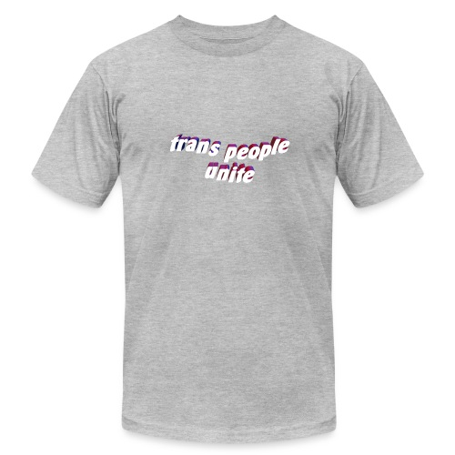 trans people unite - Men's Fine Jersey T-Shirt
