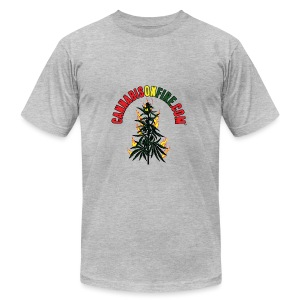 Cannabis On Fire T-Shirt 420 Cannabis Wear 2017 - Men's T-Shirt by American Apparel