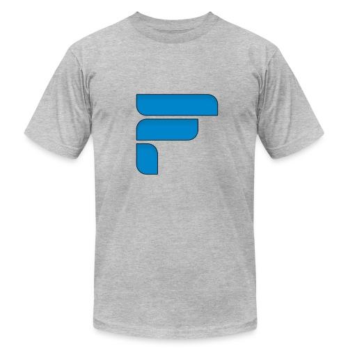 Frosty Blue Logo Center - Men's  Jersey T-Shirt