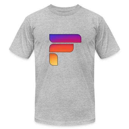 Frosty Rainbow Logo Center - Men's Fine Jersey T-Shirt