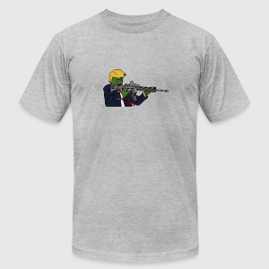 Trump Pepe w/ Rifle - Men's T-Shirt by American Apparel