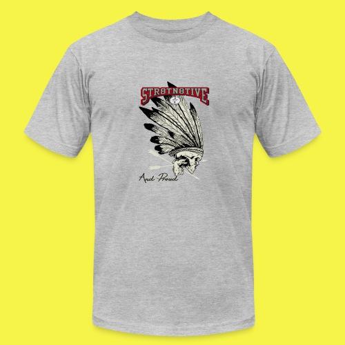 STRAIGHT NATIVE SKULL - Men's Fine Jersey T-Shirt