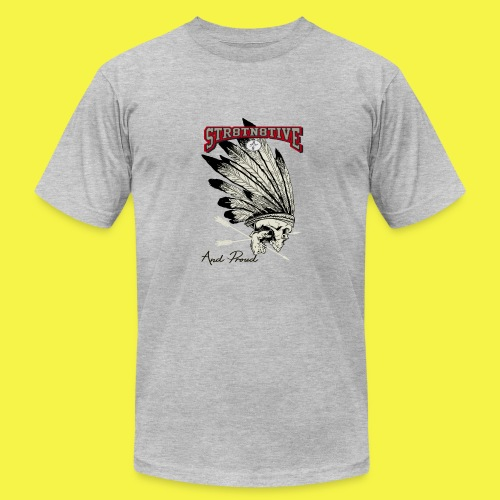 STRAIGHT NATIVE SKULL - Men's  Jersey T-Shirt