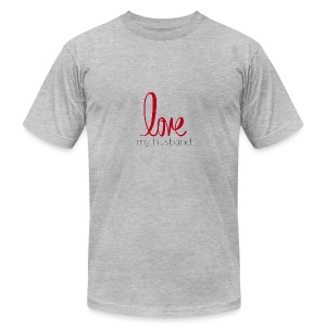 love my husband - Men's Fine Jersey T-Shirt