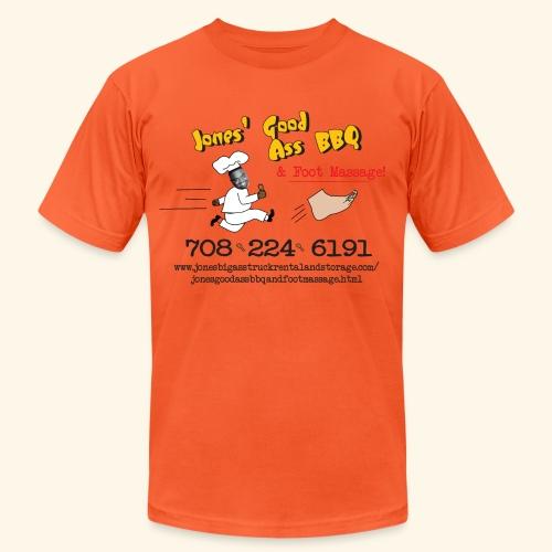 Jones Good Ass BBQ and Foot Massage logo - Unisex Jersey T-Shirt by Bella + Canvas