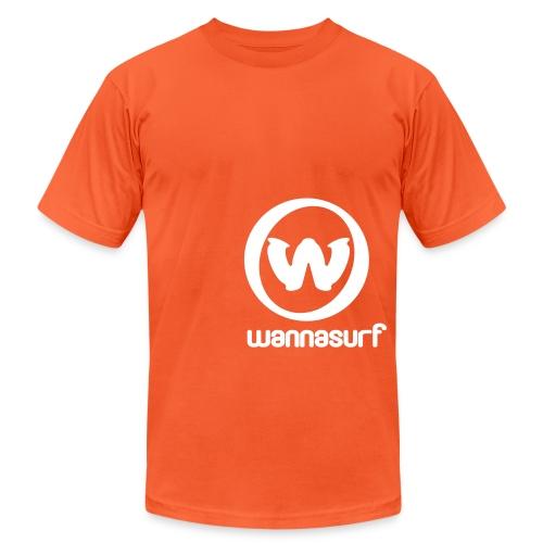 spreadshirtstickerwannasurffinal - Unisex Jersey T-Shirt by Bella + Canvas