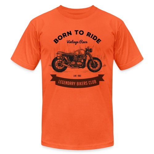 Born to ride Vintage Race T-shirt - Unisex Jersey T-Shirt by Bella + Canvas