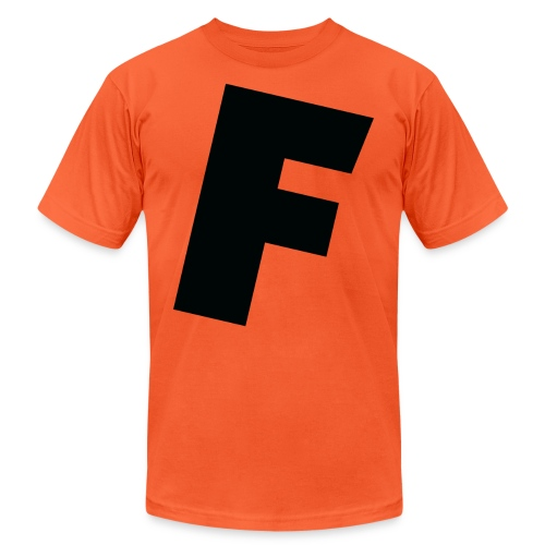 F slanted - Unisex Jersey T-Shirt by Bella + Canvas