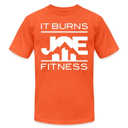 It Burns Joe Fitness - Unisex Jersey T-Shirt by Bella + Canvas