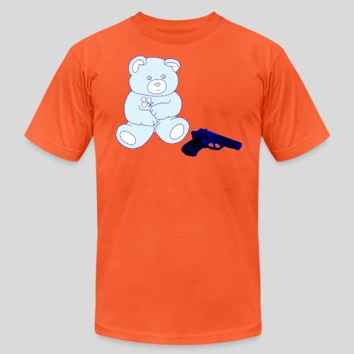 gun bear - Unisex Jersey T-Shirt by Bella + Canvas
