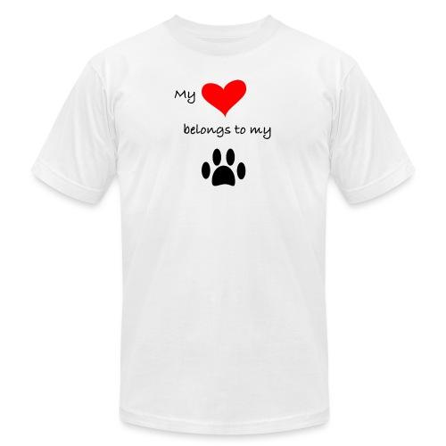Dog Lovers shirt - My Heart Belongs to my Dog - Unisex Jersey T-Shirt by Bella + Canvas