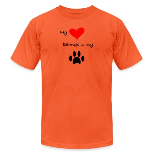 Dog Lovers shirt - My Heart Belongs to my Dog - Unisex Jersey T-Shirt by Bella + Canvas