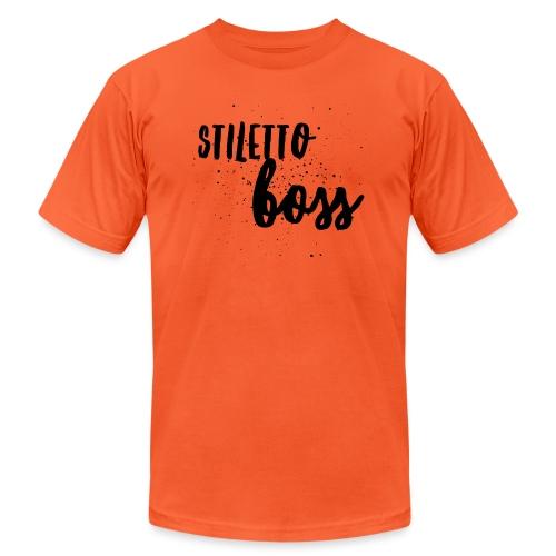 StilettoBoss Low-Blk - Unisex Jersey T-Shirt by Bella + Canvas
