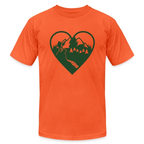 Hiking Love - Unisex Jersey T-Shirt by Bella + Canvas