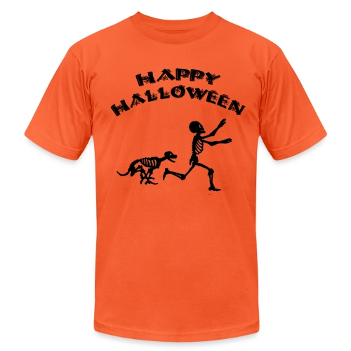 Halloween Boy and Dog - Unisex Jersey T-Shirt by Bella + Canvas