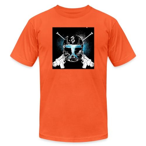 masked guns - Unisex Jersey T-Shirt by Bella + Canvas