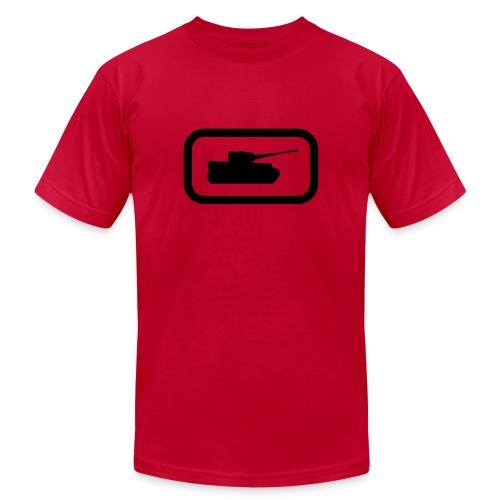 Tank Logo (Black) - Axis & Allies - Unisex Jersey T-Shirt by Bella + Canvas