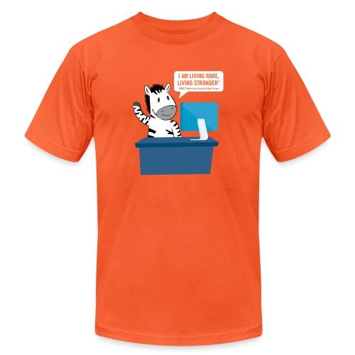 Living Rare, Living Stronger 2020 Virtual Zebra - Unisex Jersey T-Shirt by Bella + Canvas